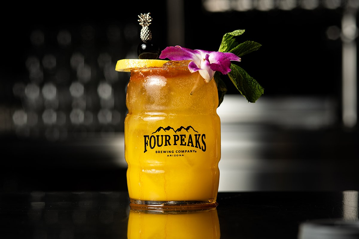 Four Peaks Beer Cocktail Golden Swizzle